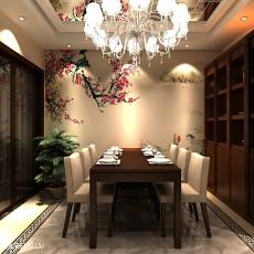 2018精选中式四居餐厅装修设计效果图