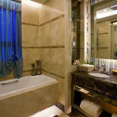 精选大小93平欧式三居卫生间装修实景图