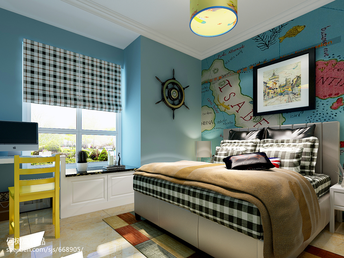 精美欧式三居儿童房装修实景图片大全