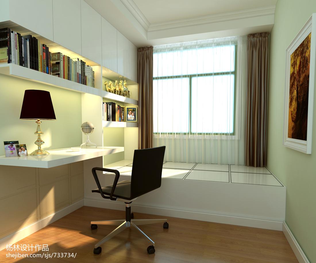 精选78平米现代小户型书房效果图片