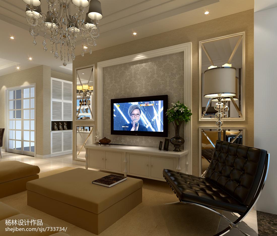 装饰柜电视背景墙