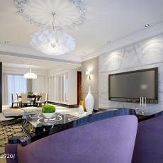 热门面积110平欧式四居客厅装修效果图片