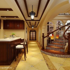 2018精选面积138平复式厨房美式装修效果图片