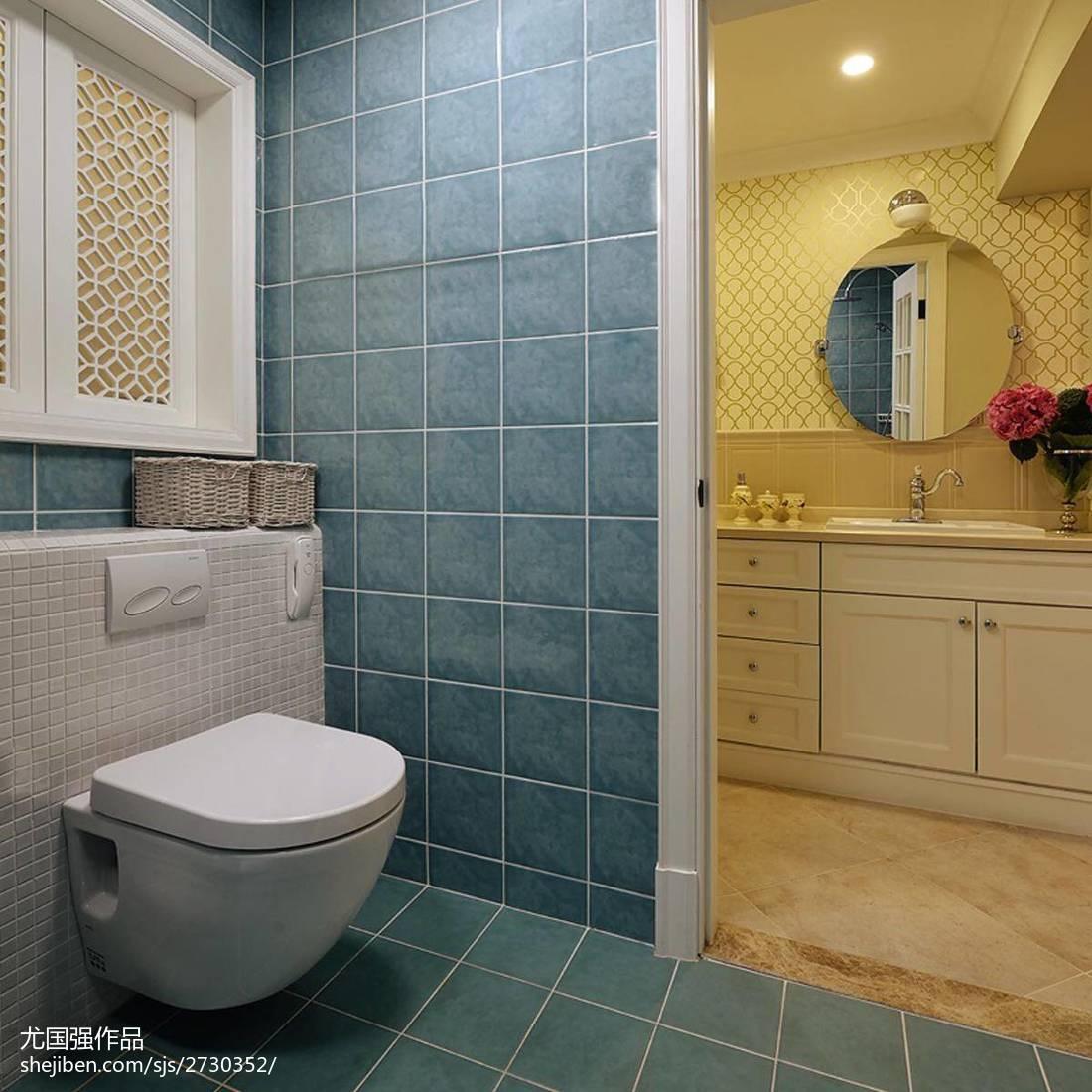 2018精选面积114平现代四居卫生间装修设计效果图片大全