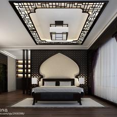 2018面积143平别墅卧室中式装修设计效果图