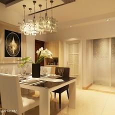 精选85平米二居餐厅现代装修实景图片欣赏