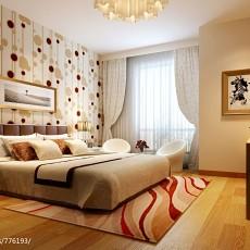 精美116平米四居卧室现代实景图