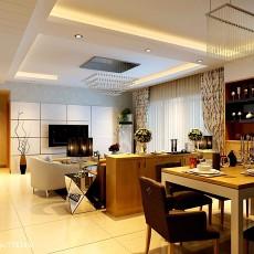 大小118平现代四居客厅装修设计效果图片大全