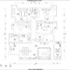 134平米四居客厅现代装修实景图