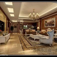 精选大小126平别墅客厅美式装修实景图