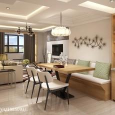 热门面积134平复式餐厅现代装修设计效果图片欣赏