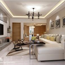 2018精选面积115平复式客厅现代装修效果图片