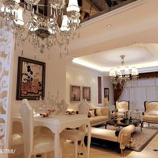 热门76平米二居餐厅欧式装修实景图片欣赏