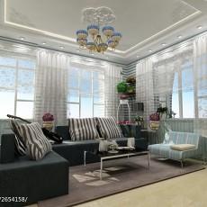 热门106平米三居客厅田园设计效果图