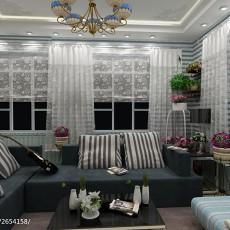 精美92平米三居客厅田园装修设计效果图片大全
