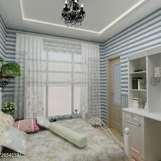 2018精选三居卧室田园装修图片大全
