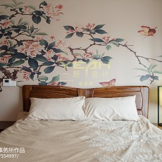 大气94平中式三居卧室图片大全