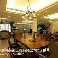 美欧风格三室两厅装修效果图
