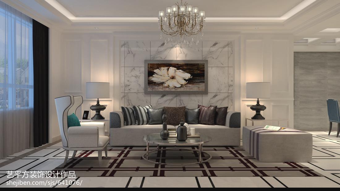 二居客厅欧式实景图