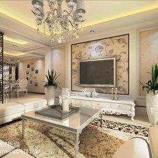 精美大小100平欧式三居客厅欣赏图片大全