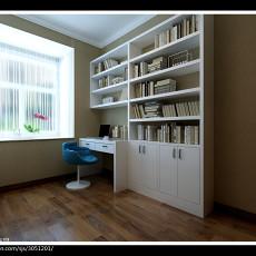 精选面积98平现代三居书房装修实景图片欣赏