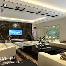 热门面积140平别墅客厅现代效果图片大全