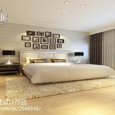 热门面积126平别墅卧室现代装修实景图片欣赏
