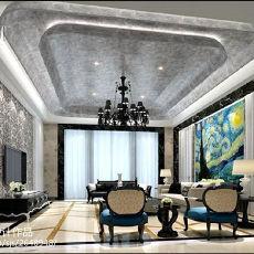 热门面积144平别墅客厅现代装修实景图片欣赏