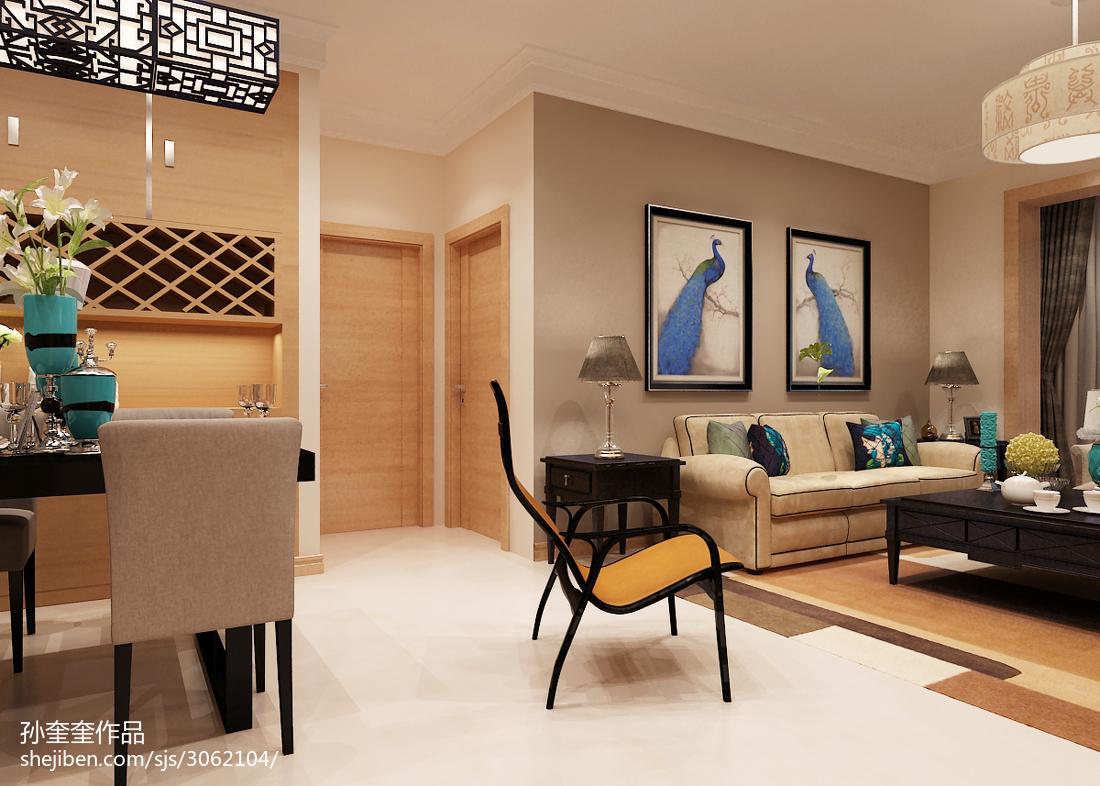 2018大小73平混搭二居客厅装修图片欣赏