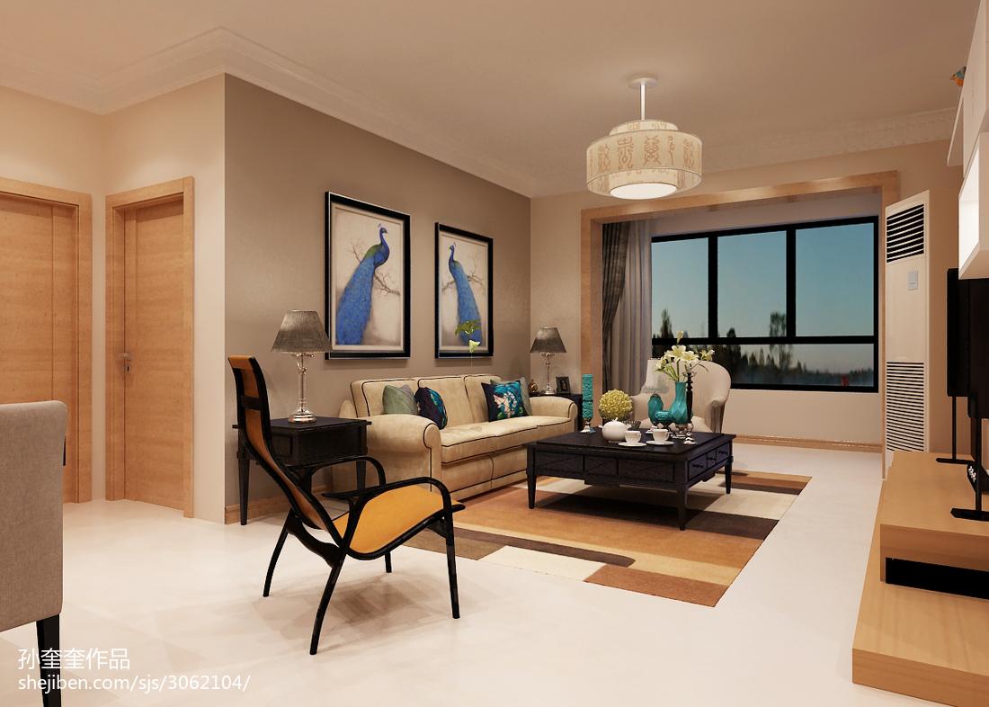 精选83平方二居客厅混搭效果图片欣赏