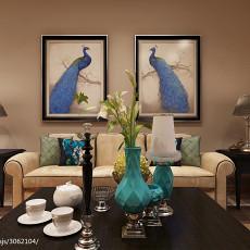 热门大小81平混搭二居客厅装修设计效果图