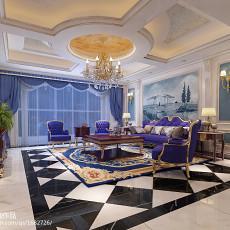 热门新古典别墅客厅装修实景图片大全