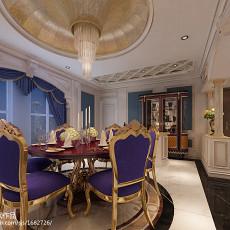 2018精选110平米新古典别墅餐厅装修效果图片欣赏