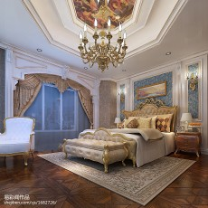 热门111平米新古典别墅卧室装修欣赏图