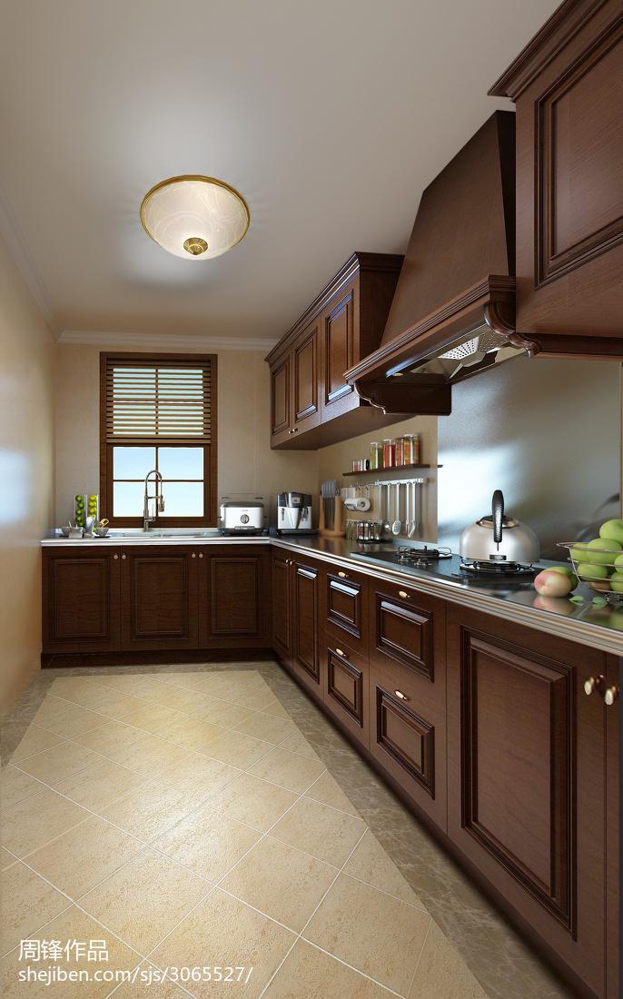 热门134平米中式别墅厨房效果图片