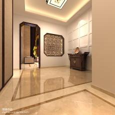 热门121平米中式别墅玄关实景图