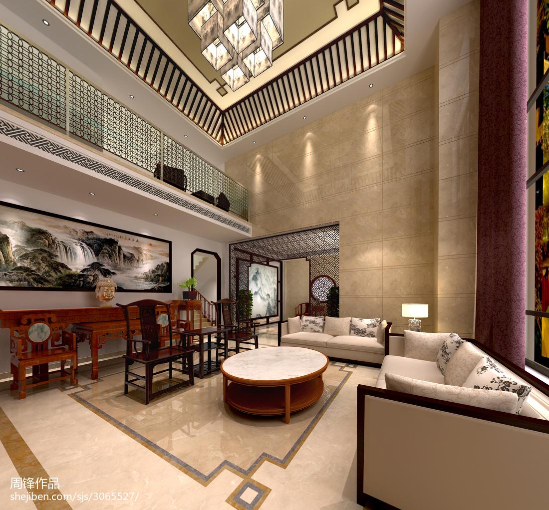 精美面积112平别墅客厅中式装饰图片大全