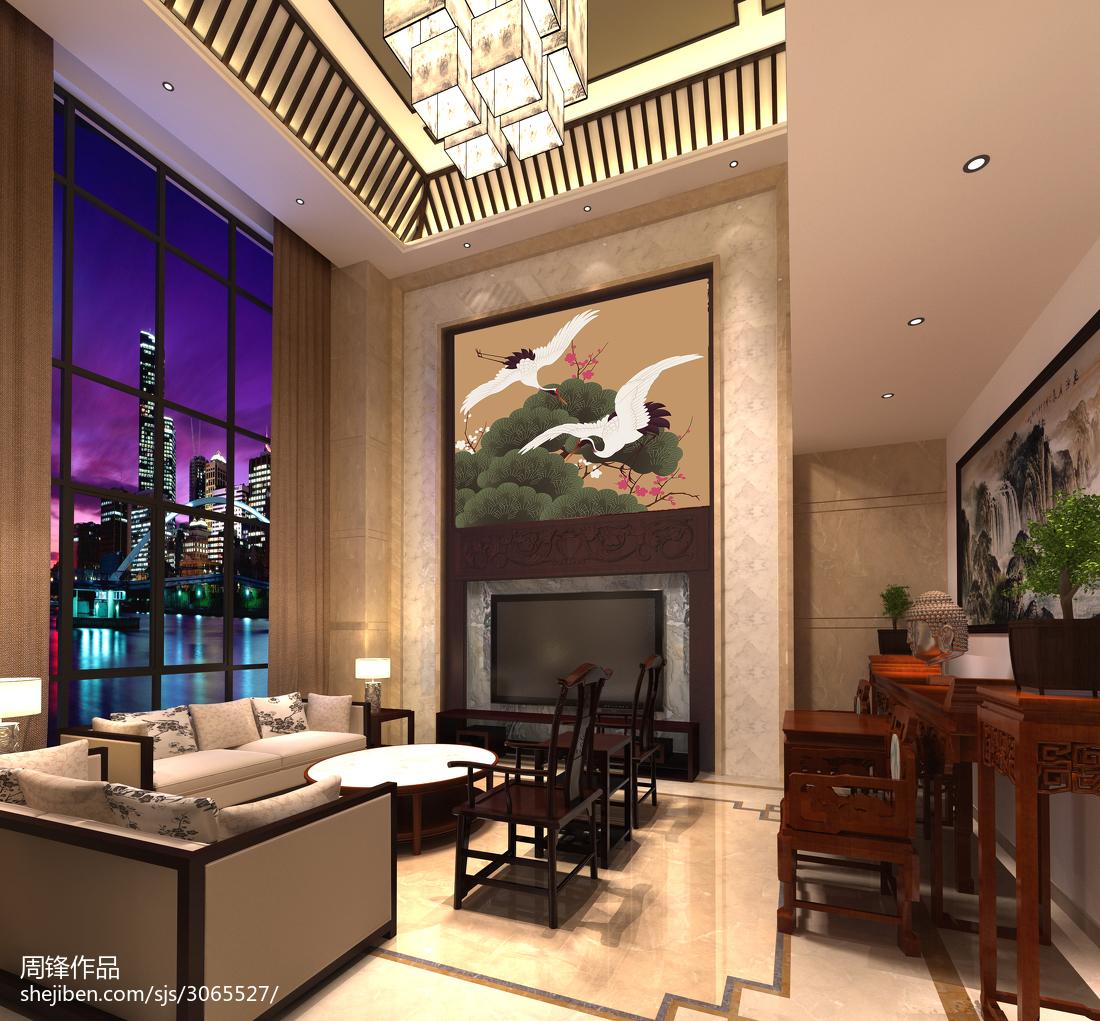精选122平米中式别墅客厅装饰图