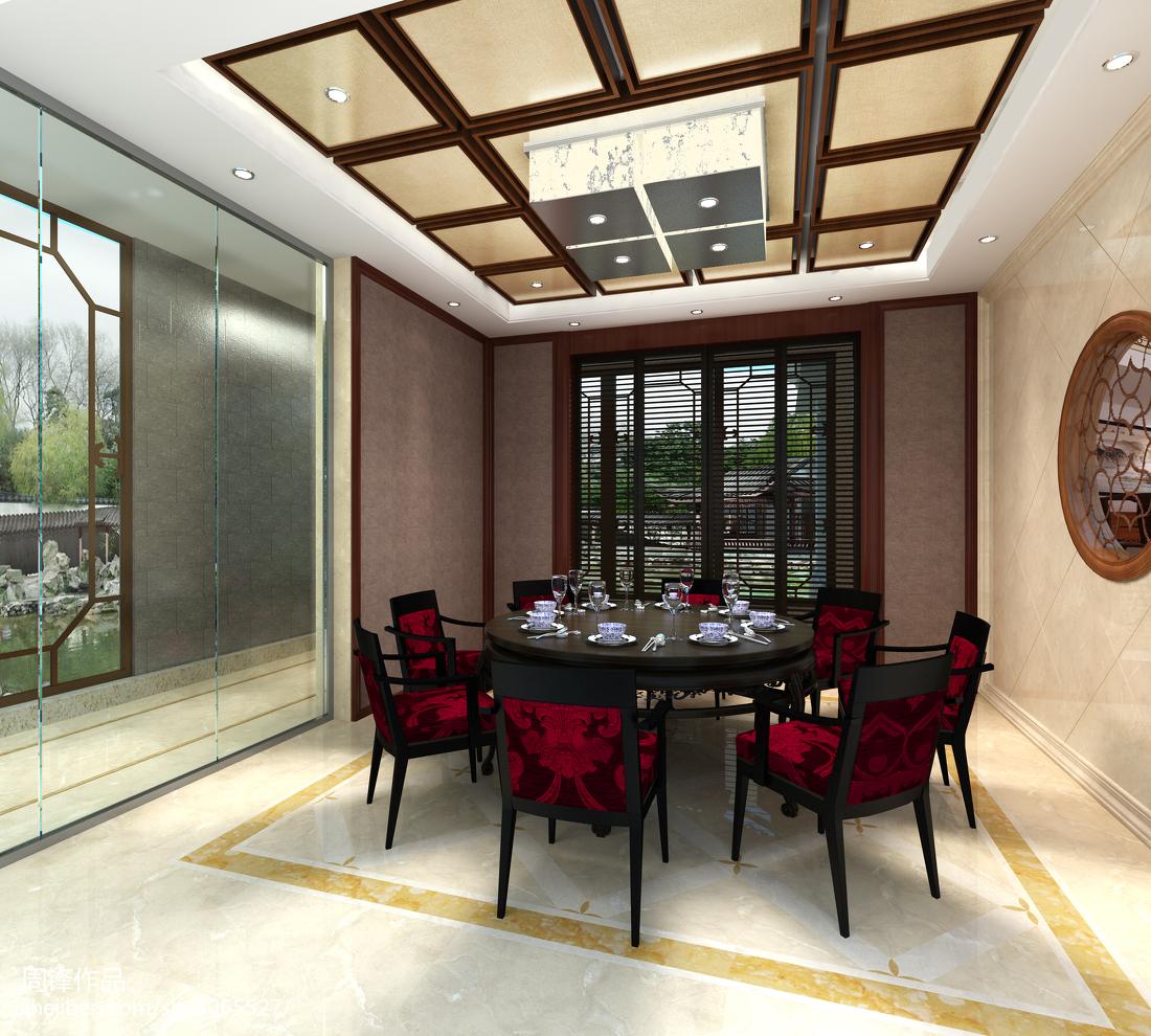 精选面积139平别墅餐厅中式效果图片欣赏