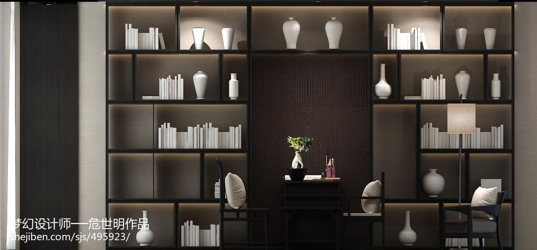 精选书房中式装修设计效果图片欣赏