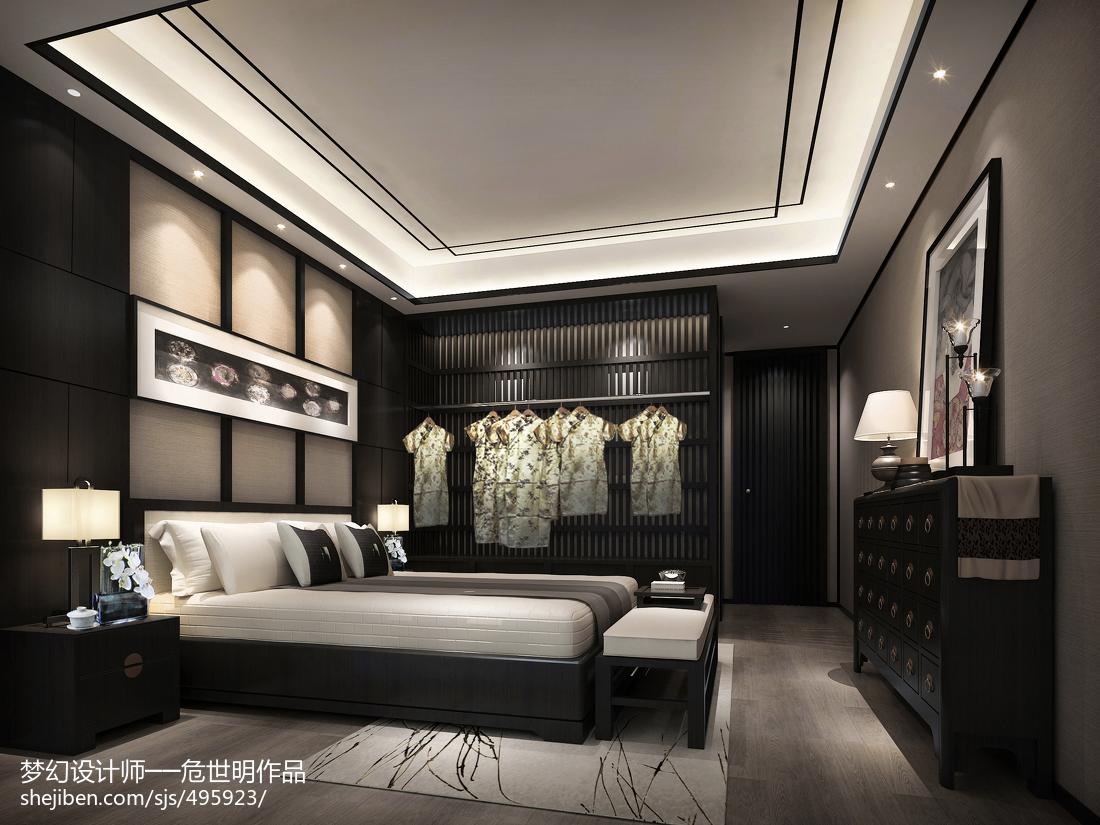 卧室中式装修设计效果图片欣赏