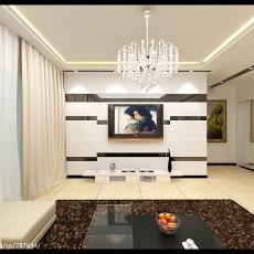 面积86平小户型客厅现代装修实景图