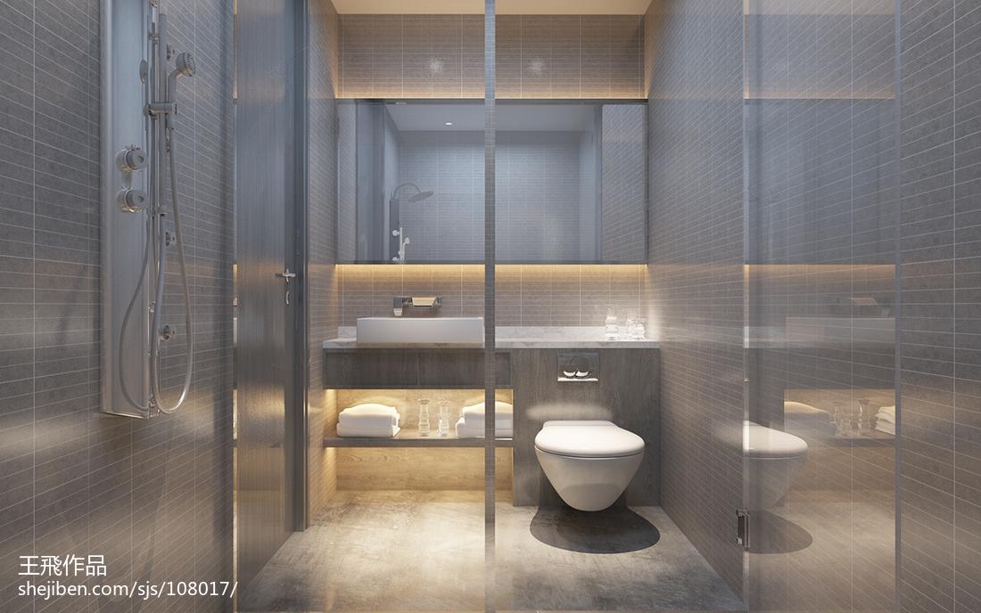 精美87平米现代小户型卫生间欣赏图片大全