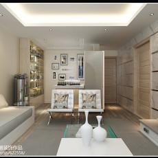 精美面积80平小户型客厅现代装修设计效果图片欣赏