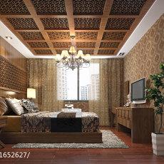 2018面积134平别墅卧室东南亚装修效果图片