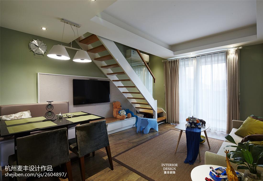 2018103平方三居餐厅美式装修效果图片大全