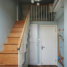 现代简约实木楼梯设计