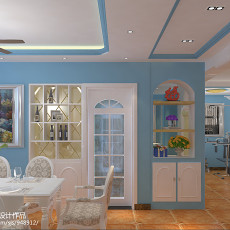 144平米地中海复式餐厅欣赏图片