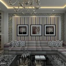 热门86平米二居客厅现代效果图