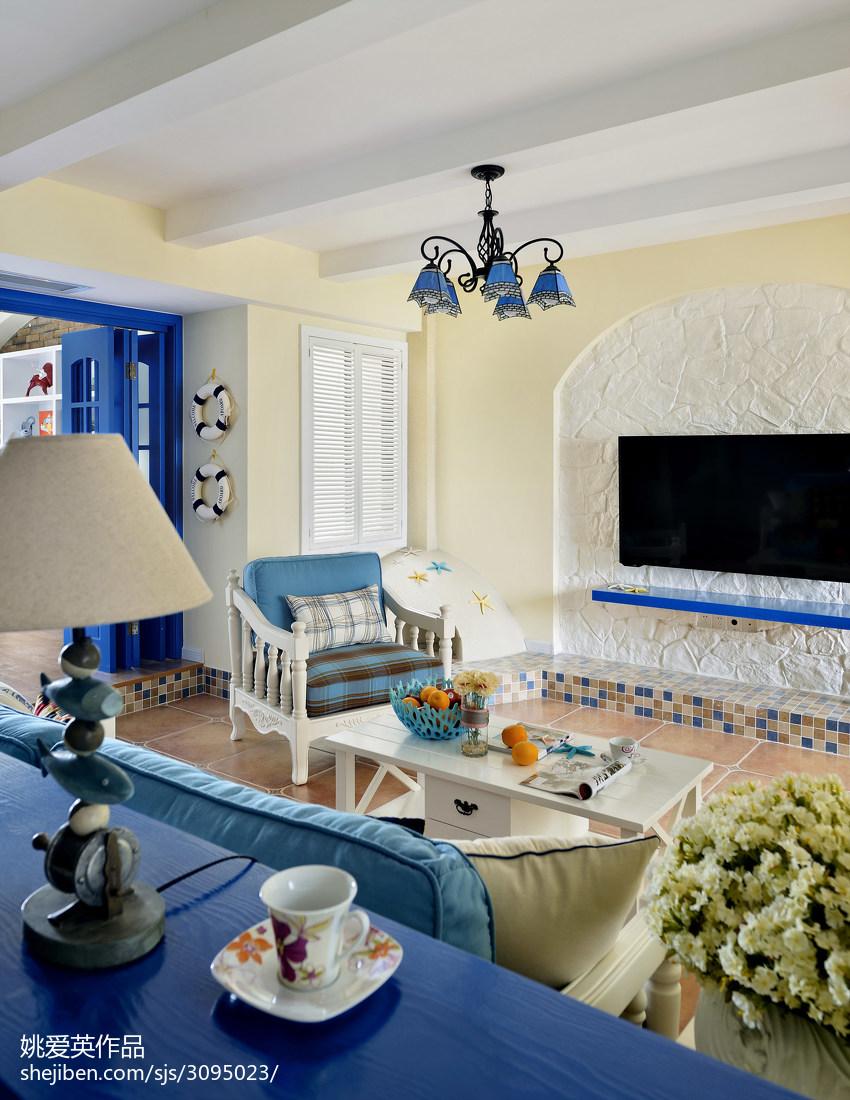 地中海风格客厅吊顶装修设计